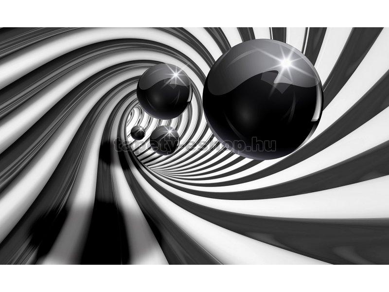 3D Poszter tapéta Fekete-fehér absztrakt  6d4670e0b0