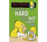 Poszter The Simpsons - Deep Thoughts